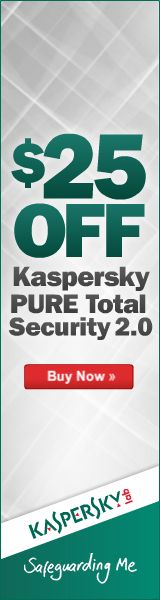 $25 off kaspersky pure total security 2.0
