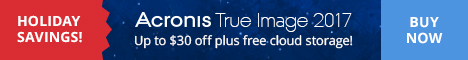 40% Off Acronis True Image 2017 Christmas Offer