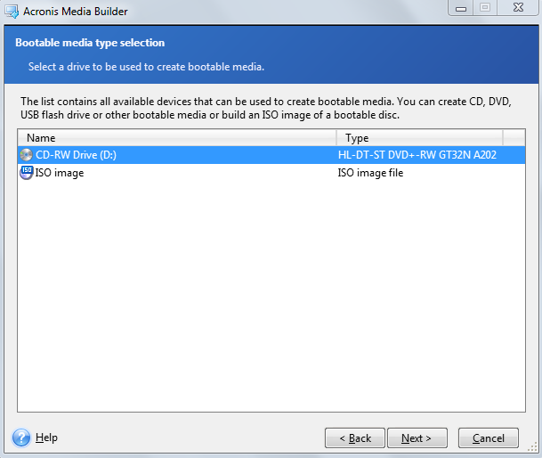 create bootable acronis usb from iso