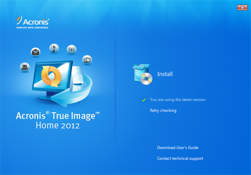 acronis true image home 2012 installation