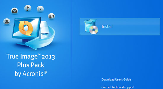 true image 2013 plus pack by acronis installation