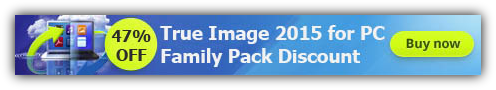 True Image 2015 Family Pack Coupon 47% Discount